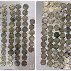 Monedas antiguas de América: CUBA. LOTE DE 72 MONEDAS DE PLATA DE 20 CENTAVOS. AÑO 1952. VER FOTOS. Lote 183655343
