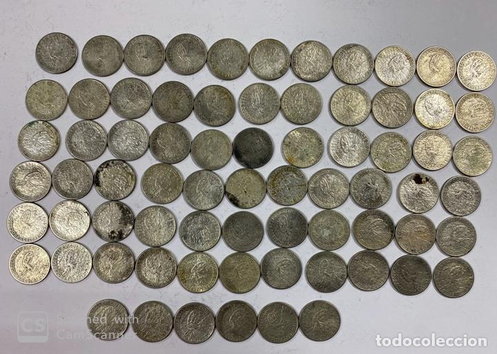 Monedas antiguas de América: CUBA. LOTE DE 72 MONEDAS DE PLATA DE 20 CENTAVOS. AÑO 1952. VER FOTOS - Foto 15 - 183655343