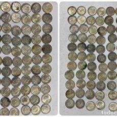 Monedas antiguas de América: CUBA. LOTE DE 71 MONEDAS DE PLATA DE DIEZ CENTAVOS. AÑO 1952. CINCUENTENARIO. VER FOTOS. Lote 183658260