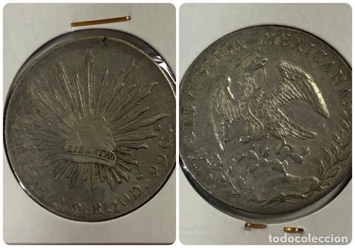 MEXICO. REPUBLICA MEXICANA. 8 REALES. PLATA. AÑO 1890. VER FOTOS (Numismática - Extranjeras - América)