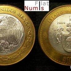 Monedas antiguas de América: MEJICO - 100 PESOS - 2004 - JALISCO - NO CIRCULADA. Lote 183699147