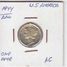 Monedas antiguas de América: ESCASA Y BUSCADA MONEDA EN PLATA EEUU 1944 ONE DIME MBC+. Lote 183796715