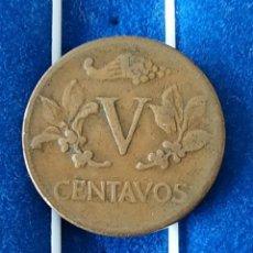 Monedas antiguas de América: COLOMBIA - 5 CENTAVOS DE 1961. Lote 184015251