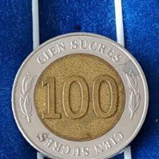 Monedas antiguas de América: ECUADOR - 100 SUCRES. Lote 184016010