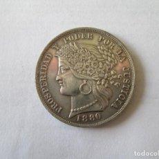 Monedas antiguas de América: PERU * 5 PESETAS 1880 B * PLATA. Lote 184084351