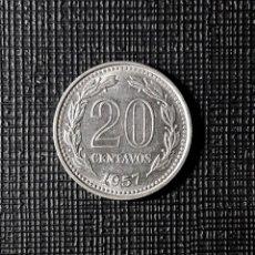 Monedas antiguas de América: ARGENTINA 20 CENTAVOS 1957 KM55. Lote 184146268