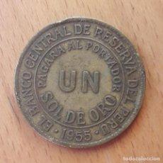 Monedas antiguas de América: UN SOL DE ORO PERU 1955. Lote 184263757