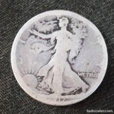 Monedas antiguas de América: HALF DOLLAR 1917- ESCASA- CON DESGASTE VER FOTOS. Lote 184279937