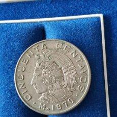 Monedas antiguas de América: MEXICO - 50 CENTAVOS DE 1970. Lote 184485252