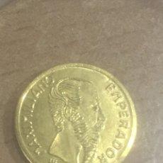 Monedas antiguas de América: MONEDA MEXICANA MAXIMILIANO EMPERADOR ORO 24K. Lote 184618782