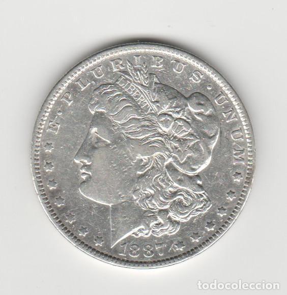 ESTADOS UNIDOS- 1 DOLAR- 1887- MORGAN (Numismática - Extranjeras - América)