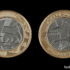 Monedas antiguas de América: BRAZIL, 1 REAL COIN, KMNEW UNC 2019 - 25TH ANNIVERSARY OF REAL. Lote 185550005