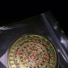 Monedas antiguas de América: MONEDA AZTECA BAÑADA EN ORO 18K. Lote 185707085