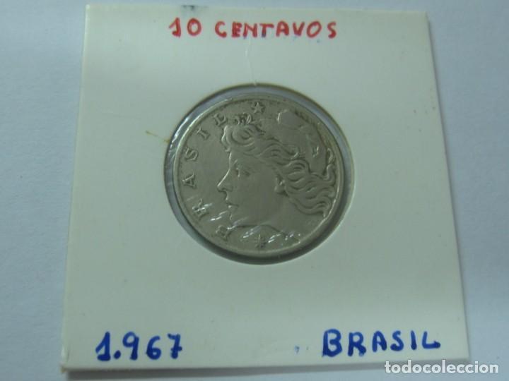 MONEDA 10 CENTAVOS BRASIL AÑO 1967 (Numismática - Extranjeras - América)