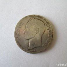 Monedas antiguas de América: VENEZUELA * 5 BOLIVARES 1889 * PLATA. Lote 185967907