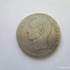 Monedas antiguas de América: VENEZUELA * 5 BOLIVARES 1889 * PLATA. Lote 185968291