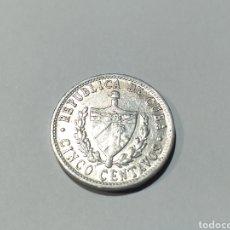 Monedas antiguas de América: MONEDA DE CUBA DE 5 CENTAVOS DE 1968. Lote 186078007