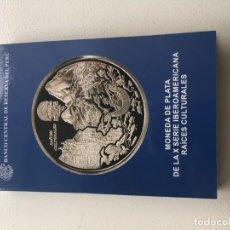 Moedas antigas da América: MONEDA DE PLATA DE COLECCION MACHU PICCHU TUMI RAICES IBEROAMERICANAS EDICION LIMITADA. Lote 186279375