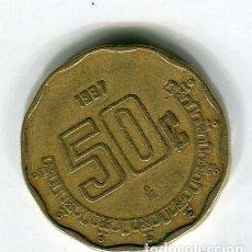 Monedas antiguas de América: MEXICO 50 CENTAVOS AÑO 1987. Lote 186363783