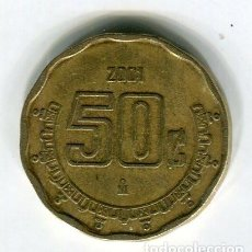 Monedas antiguas de América: MEXICO 50 CENTAVOS AÑO 2001. Lote 186364135