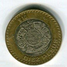 Monedas antiguas de América: MEXICO 10 PESOS AÑO 2016. Lote 186365290