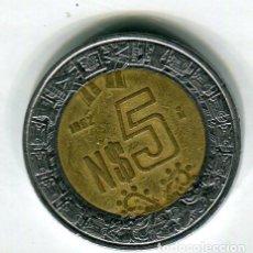 Monedas antiguas de América: MEXICO 5 PESOS AÑO 1992. Lote 186365453