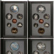 Monedas antiguas de América: LOTE CANADÁ 4 PROOF SETS AÑOS 1991,92,93,94 EN SUS LUJOSOS ESTUCHES Y CAJAS, DOLAR PLATA. Lote 187149891