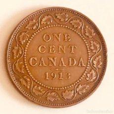 Monedas antiguas de América: ONE LARGE CENT CANADA BRITÁNICA 1913. Lote 164157750