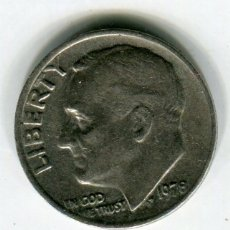 Monedas antiguas de América: ESTADOS UNIDOS ONE DIME -DIEZ CENTAVOS- AÑO 1978. Lote 187468200