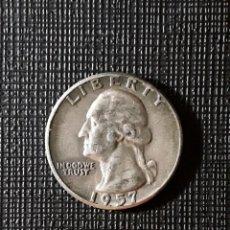 Monedas antiguas de América: ESTADOS UNIDOS QUARTER SILVER DOLLAR 1957 KM164. Lote 187541161