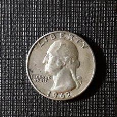 Monedas antiguas de América: ESTADOS UNIDOS QUARTER SILVER DOLLAR 1962 D KM164. Lote 187541232