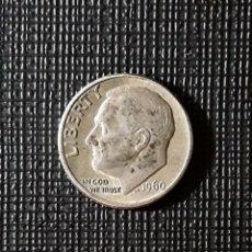 Monedas antiguas de América: ESTADOS UNIDOS DIME PLATA 1960 D KM195. Lote 187541443