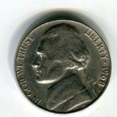 Monedas antiguas de América: ESTADOS UNIDOS FIVE CENTS -CINCO CENTAVOS- AÑO 1968 CECA D. Lote 189194213