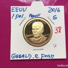 Monedas antiguas de América: X-1491 )EEUU,,1 DOLAR 2016,,S,,PROOF,, GERALD R,FORD ,, EN ESTADO NUEVO SIN CIRCULAR. Lote 189256020