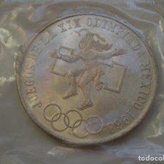 Monete antiche di America: 25 PESOS PLATA 1968 MEXICO. JUEGOS DE LA XIX OLIMPIADA MEXICO 1968. S/C (FUNDA). Lote 216487260