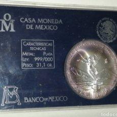 Monedas antiguas de América: 1 ONZA PURA DE PLATA 999 MÉXICO 1996 FLOR DE CUÑO. Lote 189453087