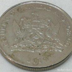 Monedas antiguas de América: MONEDA 2007. 25 CÉNTIMOS. TRINIDAD Y TOBAGO. KM 32. MBC. MUY BUENA CONSERVACIÓN. Lote 189466021
