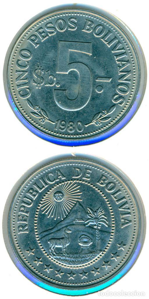 BOLIVIA 5 PESOS BOLIVIANOS 1980 ( EBC- ) KM # 197 (Numismática - Extranjeras - América)