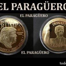 Monete antiche di America: MEDALLA TIPO MONEDA ORO 24 KILATES ( EE.UU HOMENAJE AL 45º PRESIDENTE DONALD TRUMP)PESO 27 GRA -Nº4. Lote 189651392