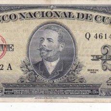 Monedas antiguas de América: BILLETE DE CUBA 20 PESOS SERIE 1960 CON LA FIRMA DEL CHE GUEVARA USADO. Lote 189705270