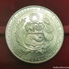 Monedas antiguas de América: PERÚ 200 SOLES DE ORO AVIATION HEROES 1975 KM 196 PLATA SC- AUNC. Lote 190496386