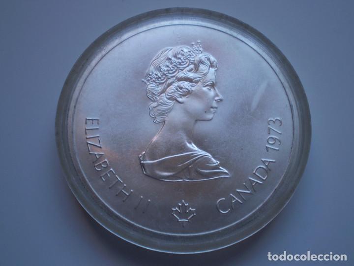 Monedas antiguas de América: 10 DOLARES 1973 CANADA. Elizabeth II. Olimpiada XXI Montreal 1976. PLATA 48,6 gr - Foto 2 - 190545632
