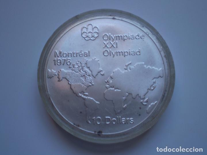 10 DOLARES 1973 CANADA. ELIZABETH II. OLIMPIADA XXI MONTREAL 1976. PLATA 48,6 GR (Numismática - Extranjeras - América)
