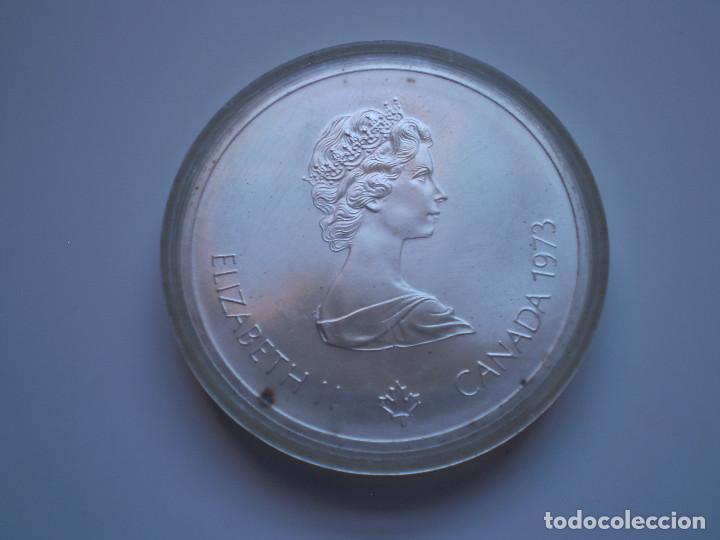 Monedas antiguas de América: 10 DOLARES 1973 CANADA. Elizabeth II. Olimpiada XXI Montreal 1976. PLATA 48,6 gr - Foto 2 - 190545801