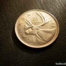 Monnaies anciennes d'Amérique: CANADA 25 CENTS 1974. Lote 190616751