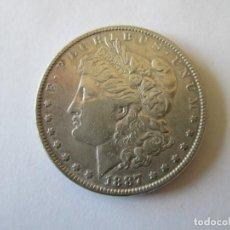 Monedas antiguas de América: ESTADOS UNIDOS * 1 DOLAR 1887 MORGAN * PLATA. Lote 190629615