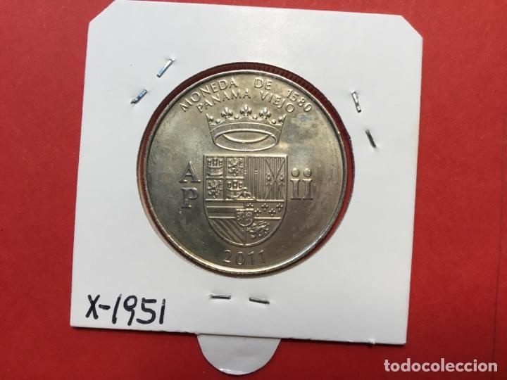 X-1951 )PANAMA,,1/2 BALBOA 2011,,PANAMA VIEJO,, EN ESTADO NUEVO SIN CIRCULAR (Numismática - Extranjeras - América)