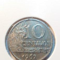 Monedas antiguas de América: BRASIL - 10 CENTAVOS - 1967. Lote 191280012