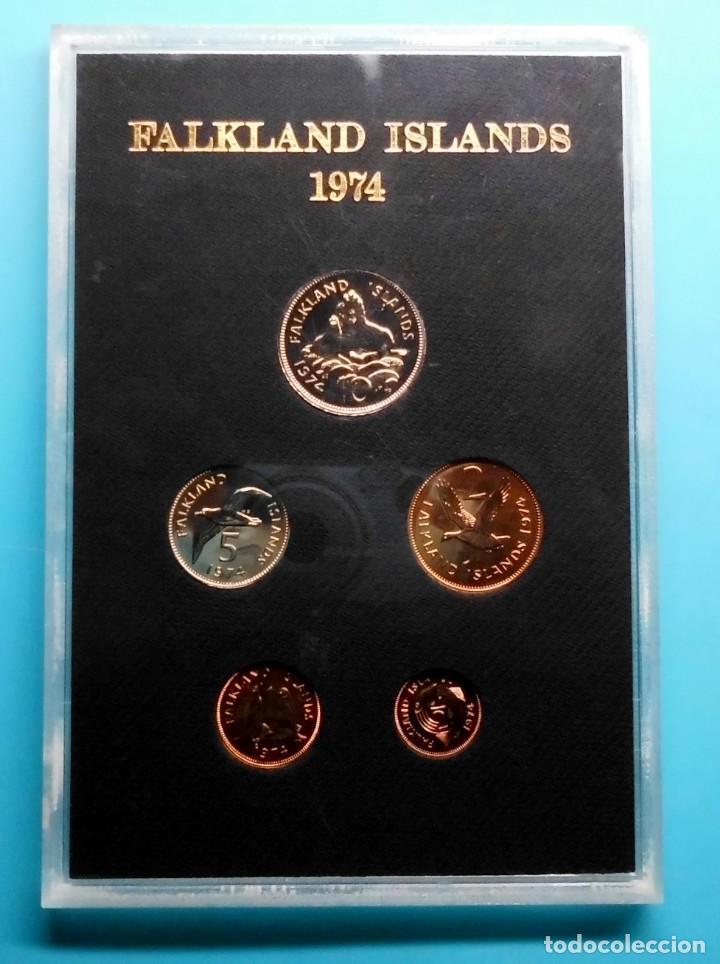 FALKLAND ISLANDS 1974, ESTUCHE DE MONEDAS (Numismática - Extranjeras - América)