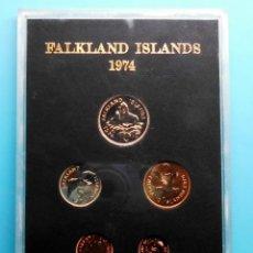 Monedas antiguas de América: FALKLAND ISLANDS 1974, ESTUCHE DE MONEDAS. Lote 191511743